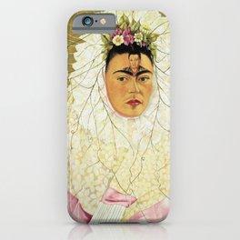 "Frida Kahlo Exhibition Art Poster - ""Diego on my mind"" 1988 iPhone Case"