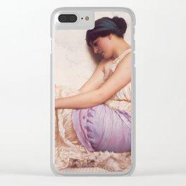 A Grecian Girl by John William Godward Clear iPhone Case