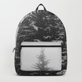 The Pine Tree Forest (Black and White) Backpack