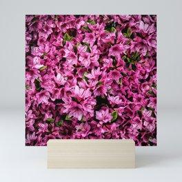 Azalea In Bloom Pattern Mini Art Print