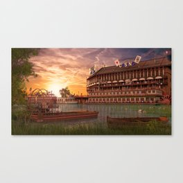 Sunet Poker Canvas Print