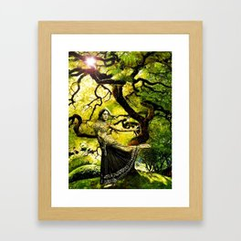 Beneath the Bodhi Tree Framed Art Print
