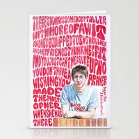 arctic monkeys Stationery Cards featuring Bigger Boys and Stolen Sweethearts - Arctic Monkeys by Frances May K
