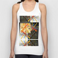 fireworks Tank Tops featuring Fireworks by MZ Designs