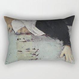 Woman in Black Rectangular Pillow