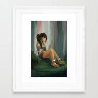 chihiro Framed Art Prints featuring Realistic Chihiro by Jessica Smith