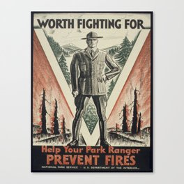 Vintage poster - Worth Fighting For Canvas Print