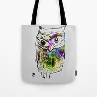 alone Tote Bags featuring Alone by Organic Mind