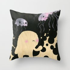 Jellyfish Wrangler Throw Pillow