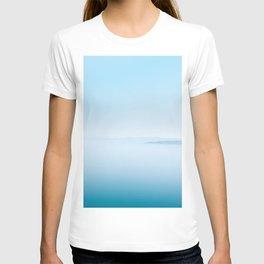 Indigo Ocean | Light Blue Water Abstract Dreamy Sea Mountain Landscape Wanderlust Fantasy Photograph T-shirt