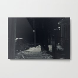 Cold Sidewalk Metal Print