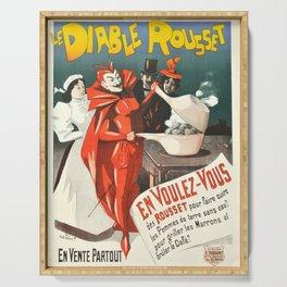 le diable rousset cocotte minute vintage Poster Serving Tray
