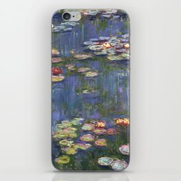 1916-Claude Monet-Waterlilies-200 x 200 iPhone Skin