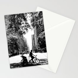 NYC Central Park Bike Man Stationery Cards