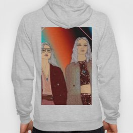 Social Jetlag - Mean Girls Stare, Nice Girls Smile - Digital Art Hoody