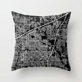 plano map texas Throw Pillow