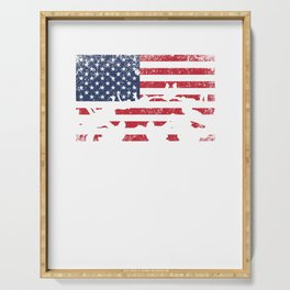 Skydive USA Flag Extreme Sports Skydiver Parachute Skydiving Gifts Serving Tray