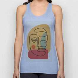 Abstract Face 20 Unisex Tank Top