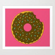 Chocolate Donut Art Print