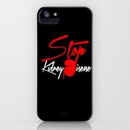 Stop Kidney Disease - Black iPhone Case