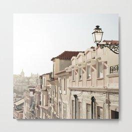 Lisbon Street Metal Print