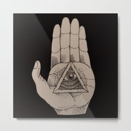 World in your hand Metal Print