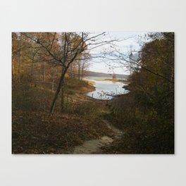 Fall Upon the Lakeshore Canvas Print