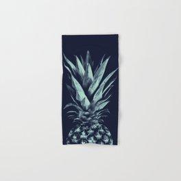Navy Blue Pineapple Dream #1 #tropical #fruit #decor #art #society6 Hand & Bath Towel