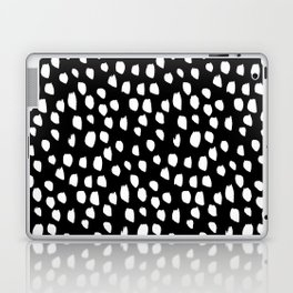 Handdrawn drops and dots on black-Mix & Match with Simplicty of life Laptop & iPad Skin