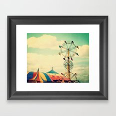 Get your ticket to ride. Framed Art Print