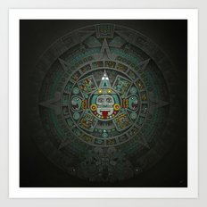 Stone of the Sun II. Art Print