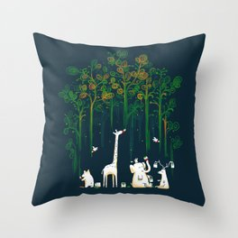 Re-paint the Forest Throw Pillow