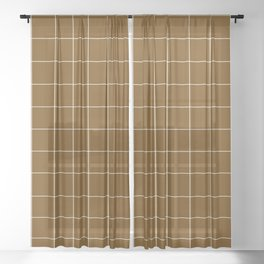 Minimal_LINES_EARTH Sheer Curtain
