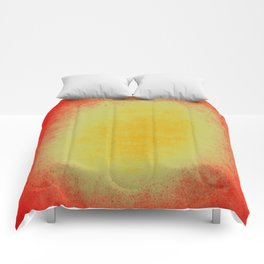 yellow and red grunge texture Comforters