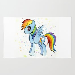 Rainbow Pony Rug