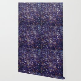Ultraviolet and Gold Mesh Wallpaper