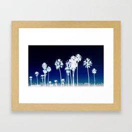 White Palm Trees Framed Art Print