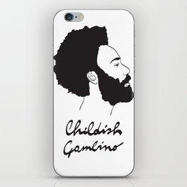Childish Gambino - Minimalist profile portrait iPhone Skin