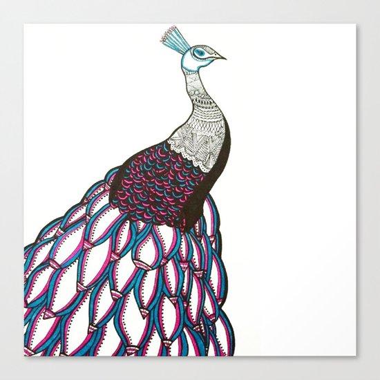 Queen Peacock Canvas Print