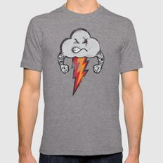 Bad Weather LARGE Mens Fitted Tee Tri-Grey