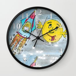Harry and the Bedship: A Trip to Mars Wall Clock