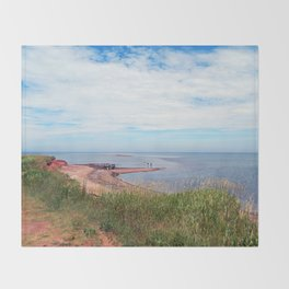 North Cape Sandbar PEI Throw Blanket