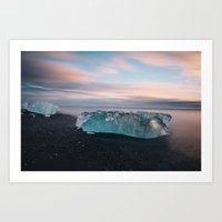iceland Art Prints featuring Iceland by JulienHery