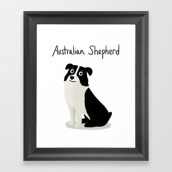 Australian Shepherd - Cute Dog Series Framed Art Print