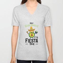 Holy Guacamole It's Fiesta Time Unisex V-Neck