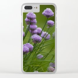 Herb Garden Chives Tarragon Parsley Clear iPhone Case