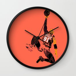 "Rodman Art and Poster AKA ""The Worm"" Wall Clock"