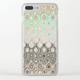 Pastel Pattern of Circular Shapes Clear iPhone Case