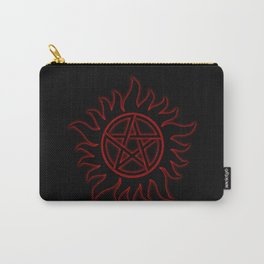 Anti Possesion Sigil Red Glow Carry-All Pouch