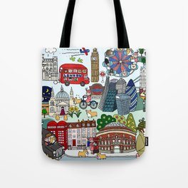 The Queen's London Day Out Tote Bag